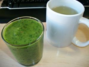 green smoothie, green tea`