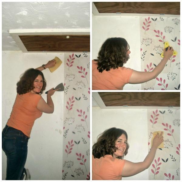 Removing wallpaper, stripping walls,